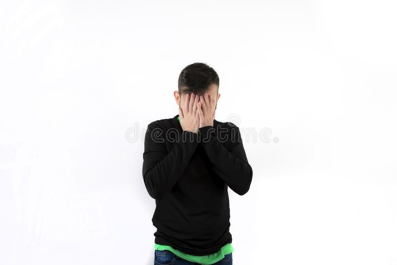 Νίκαια και σύγχρονος νέος φοίνικας προσώπου με τη γενειάδα που απομονώνεται στο άσπρο υπόβαθρο στοκ φωτογραφία με δικαίωμα ελεύθερης χρήσης