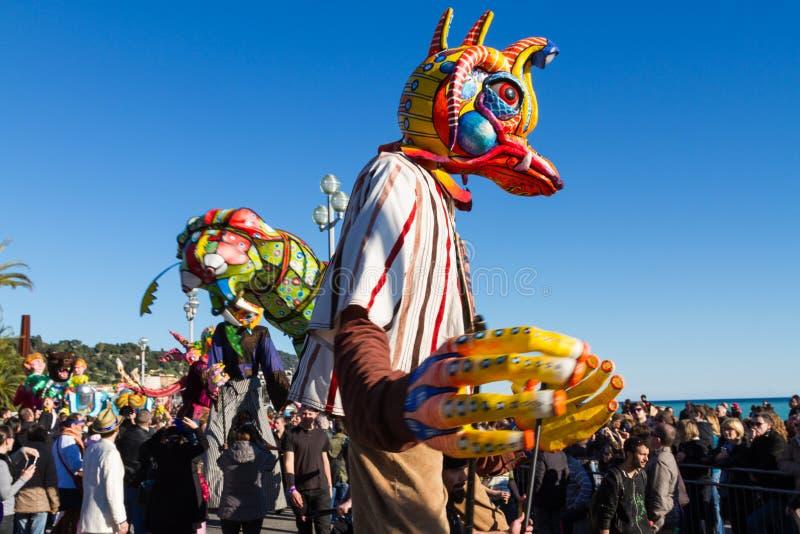 Νίκαια καρναβάλι, Γαλλία στοκ φωτογραφία με δικαίωμα ελεύθερης χρήσης