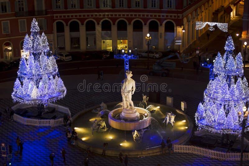 Νίκαια κατά τη διάρκεια των Χριστουγέννων στοκ φωτογραφίες με δικαίωμα ελεύθερης χρήσης