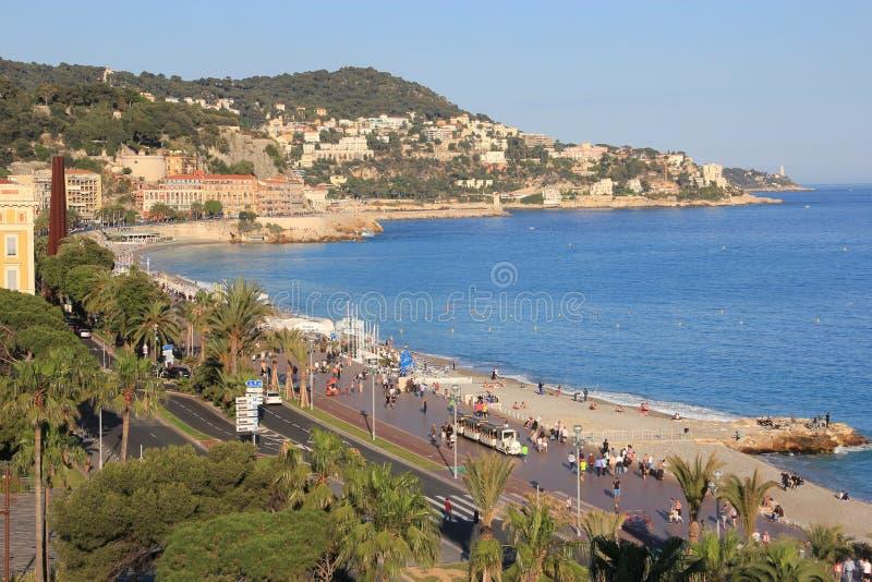 Νίκαια, παραλία, Γαλλία στοκ εικόνα
