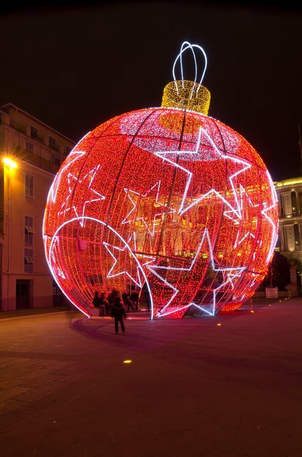 Νίκαια που διακοσμείται για τα Χριστούγεννα, Γαλλία στοκ φωτογραφίες