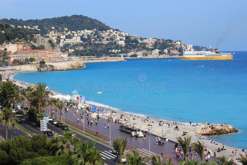 Νίκαια, υπόστεγο d'Azur, Γαλλία στοκ εικόνα