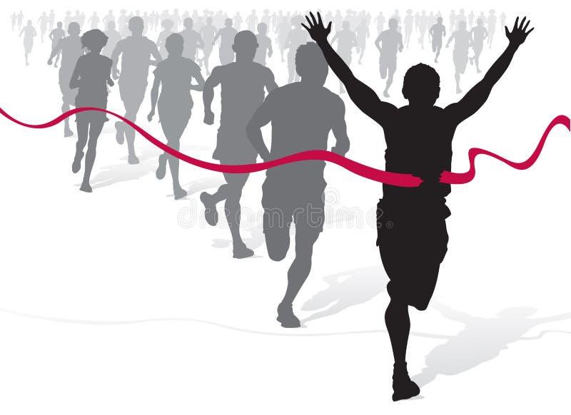 νίκη αθλητών διανυσματική απεικόνιση