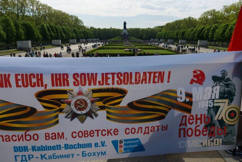 Νίκη ημέρα ( Στις 9 Μαΐου )  στο πάρκο Treptower Βερολίνο Γερμανία στοκ φωτογραφίες με δικαίωμα ελεύθερης χρήσης