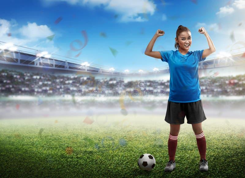 νίκη ποδοσφαιριστών στοκ φωτογραφίες με δικαίωμα ελεύθερης χρήσης