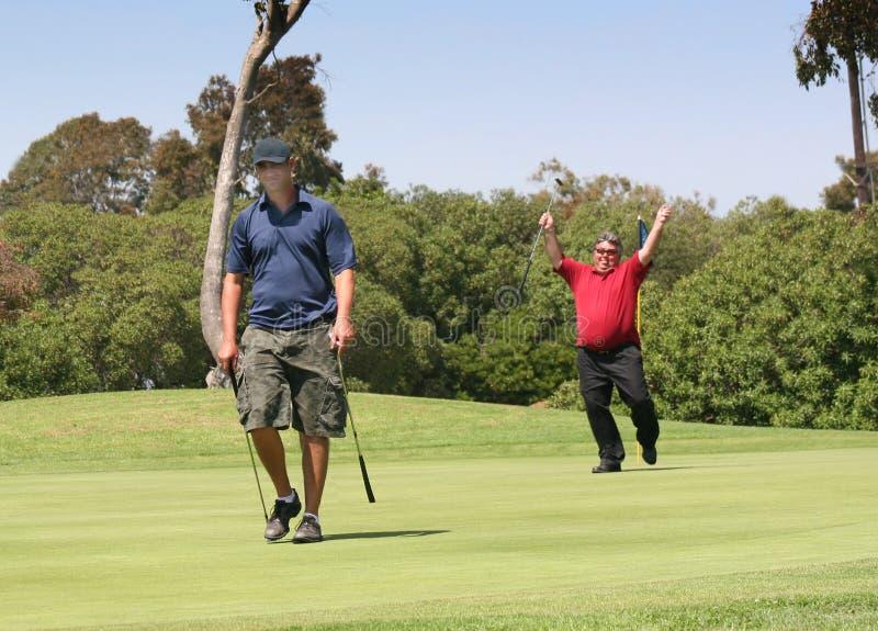 νίκη συγκίνησης γκολφ ήττ&al στοκ φωτογραφία με δικαίωμα ελεύθερης χρήσης