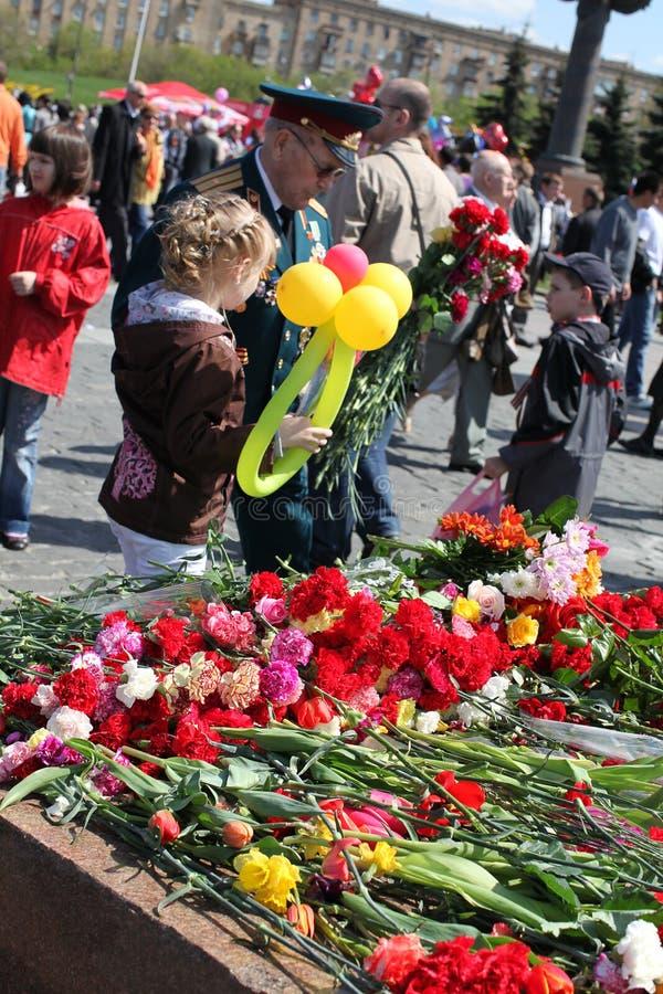 νίκη της Μόσχας Ρωσία ημέρας & στοκ φωτογραφίες