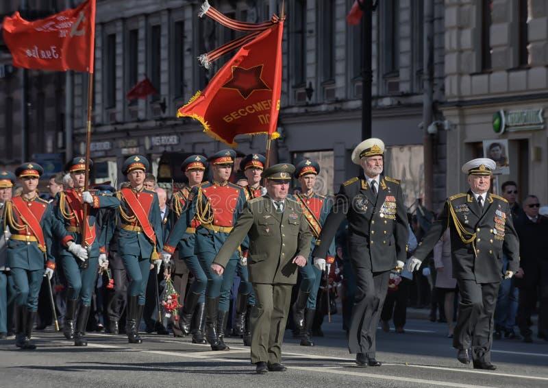 νίκη της Πετρούπολης ST παρελάσεων στοκ φωτογραφίες με δικαίωμα ελεύθερης χρήσης
