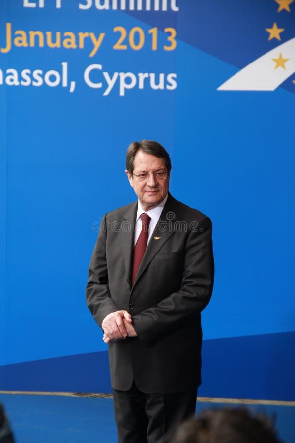 Νίκος Anastasiades, προεδρικός υποψήφιος. στοκ φωτογραφία