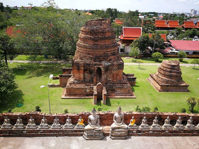 Ναοί μιας όμορφοι Ταϊλάνδης, παγόδες και καταστατικό του Βούδα στην παλαιά ιστορική χώρα ` s Ταϊλάνδη στοκ εικόνες