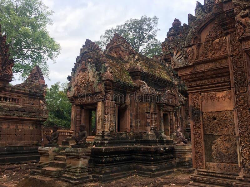 Ναοί σε Angkor Wat στοκ εικόνες