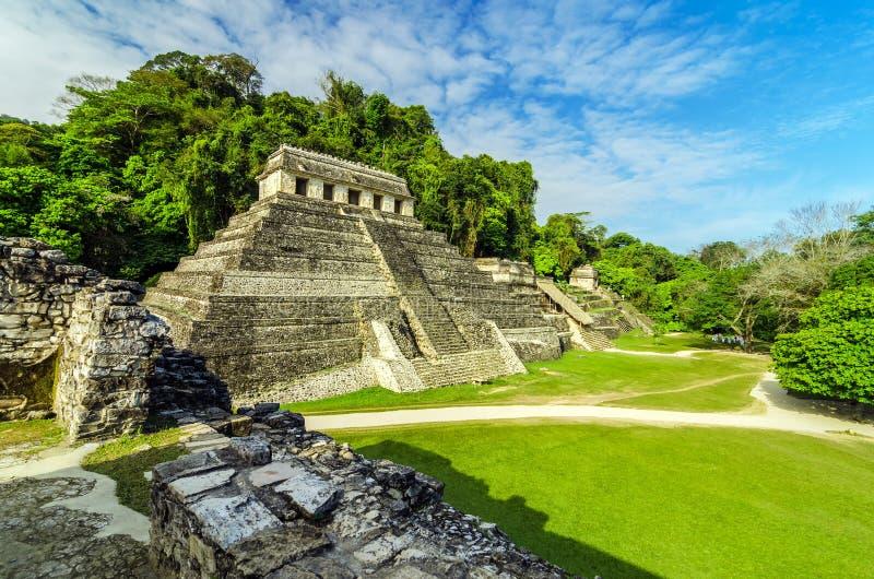 Ναοί σε Palenque στοκ φωτογραφίες
