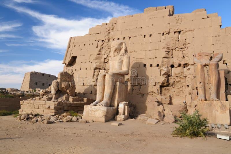 ναοί της Αιγύπτου karnak στοκ εικόνες