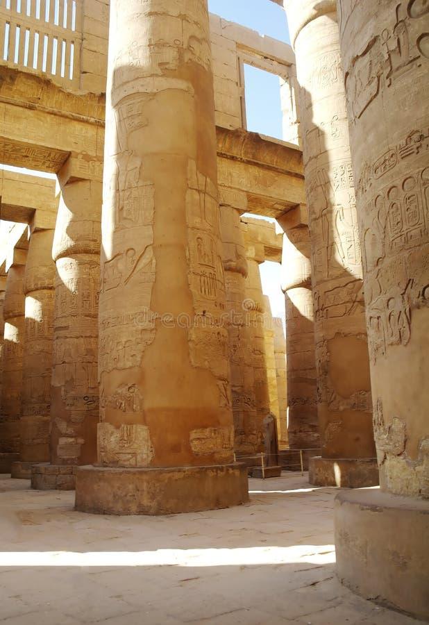 Ναοί Karnak (αρχαίο Thebes). Luxor, Αίγυπτος στοκ φωτογραφίες