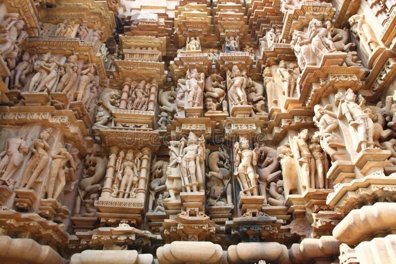 Ναοί Khajuraho και τα ερωτικά γλυπτά τους, Ινδία στοκ εικόνες