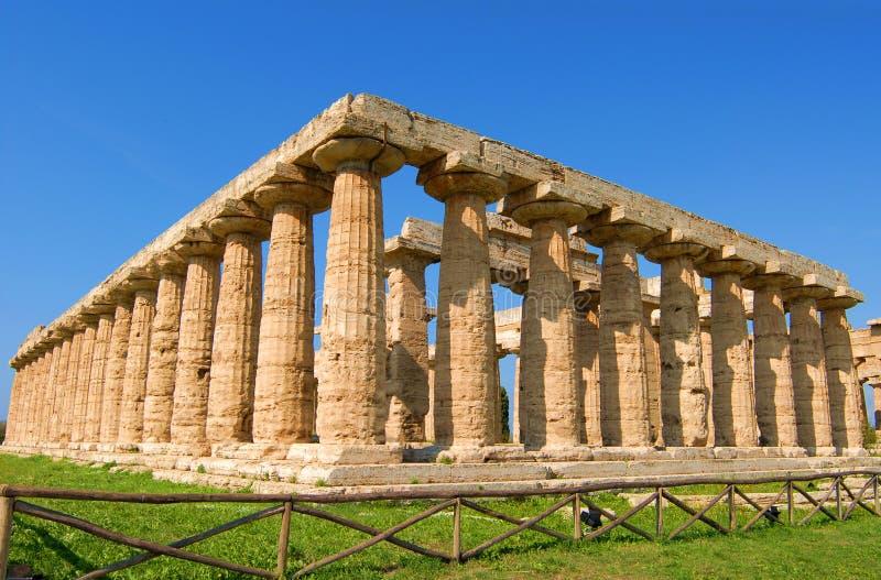ναοί paestum στοκ φωτογραφία