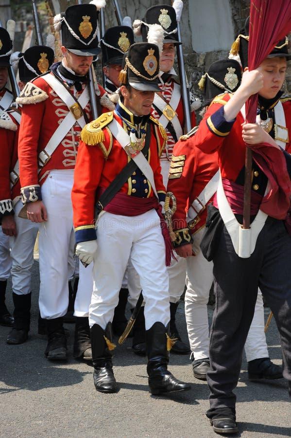 Ναπολεόντειοι στρατιώτες στοκ φωτογραφίες με δικαίωμα ελεύθερης χρήσης