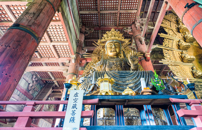 ΝΑΡΑ, ΙΑΠΩΝΙΑ - ΤΟΝ ΑΠΡΊΛΙΟ ΤΟΥ 2016: Εσωτερικό του ναού todai-Ji Είναι ένα Β στοκ φωτογραφίες με δικαίωμα ελεύθερης χρήσης