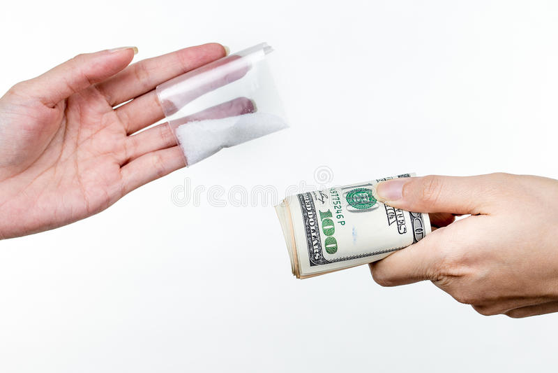 Ναρκωτικά και έγκλημα στοκ εικόνα