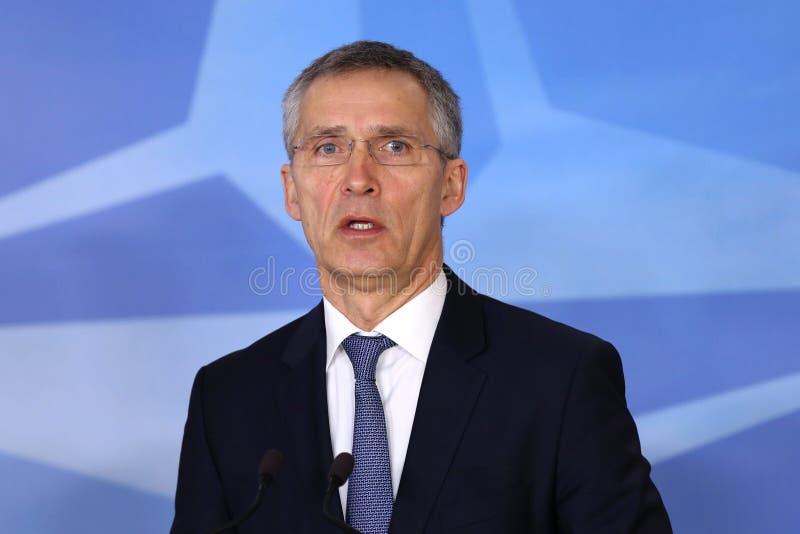 ΝΑΤΟ γενικός γραμματέας Jens Stoltenberg στοκ εικόνες με δικαίωμα ελεύθερης χρήσης