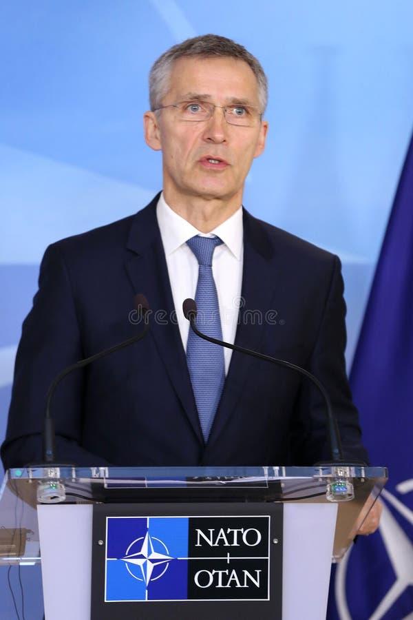 ΝΑΤΟ γενικός γραμματέας Jens Stoltenberg στοκ εικόνα
