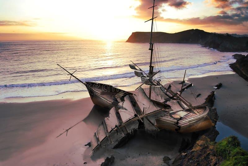 ναυάγιο διανυσματική απεικόνιση