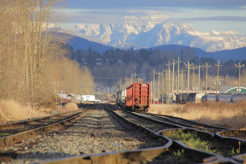 Ναυπηγείο ραγών βουνών στοκ φωτογραφία με δικαίωμα ελεύθερης χρήσης