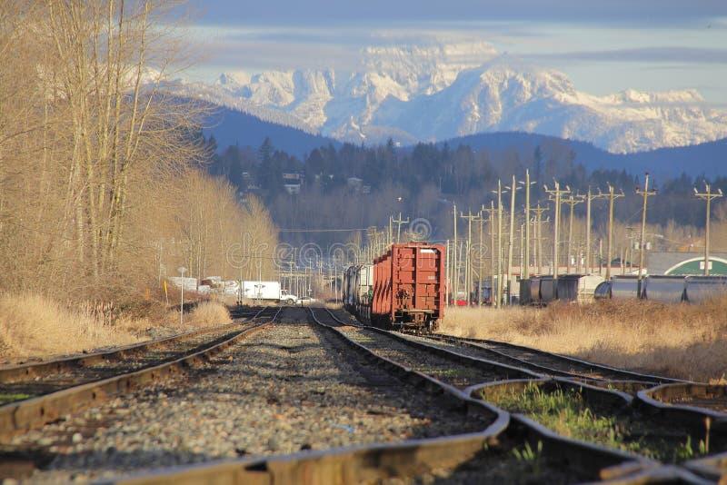 Ναυπηγείο ραγών στην περιοχή βουνών στοκ φωτογραφίες