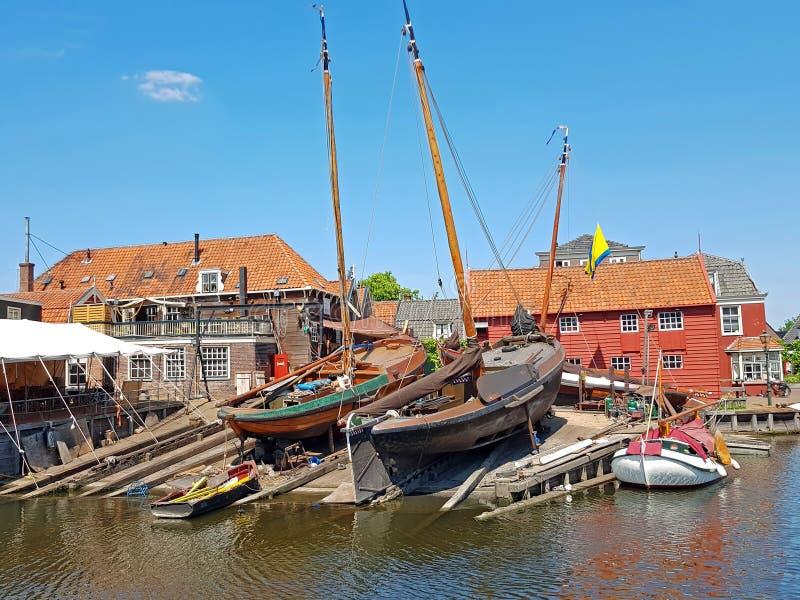 Ναυπηγείο στο λιμάνι από Spakenburg Κάτω Χώρες στοκ εικόνα
