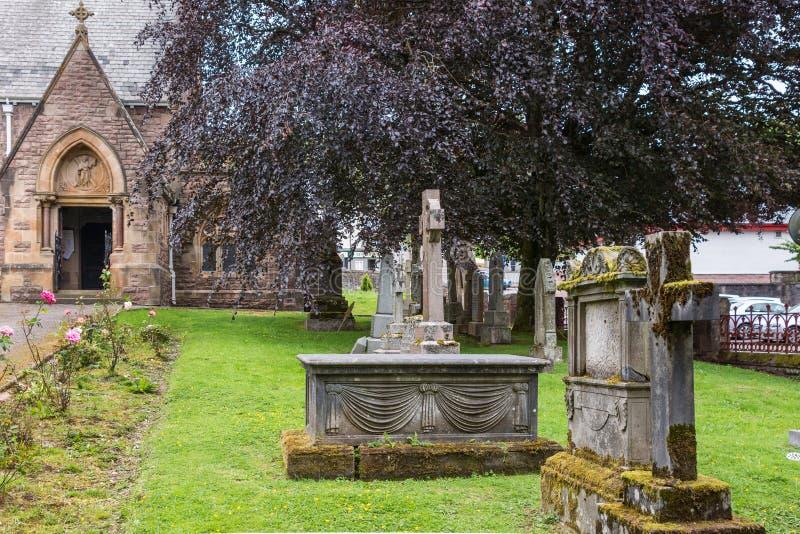 Ναυπηγείο τάφων στην εκκλησία του Saint-Andrews, οχυρό William Σκωτία στοκ φωτογραφίες με δικαίωμα ελεύθερης χρήσης