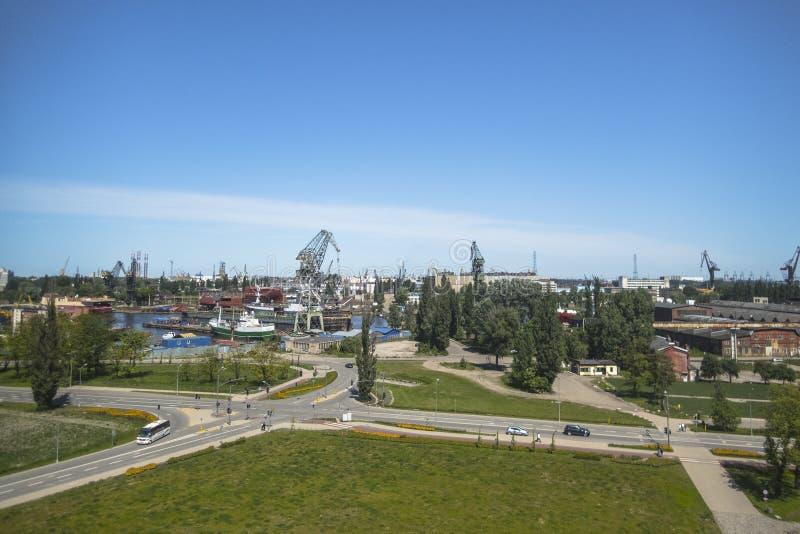Ναυπηγείο του Γντανσκ, πανόραμα στοκ εικόνα με δικαίωμα ελεύθερης χρήσης