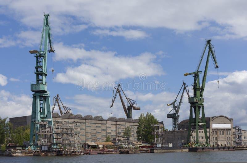 ναυπηγείο του Γντανσκ Π&om στοκ εικόνα με δικαίωμα ελεύθερης χρήσης