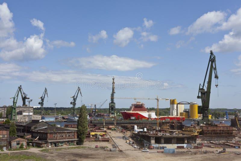 ναυπηγείο του Γντανσκ στοκ φωτογραφία με δικαίωμα ελεύθερης χρήσης