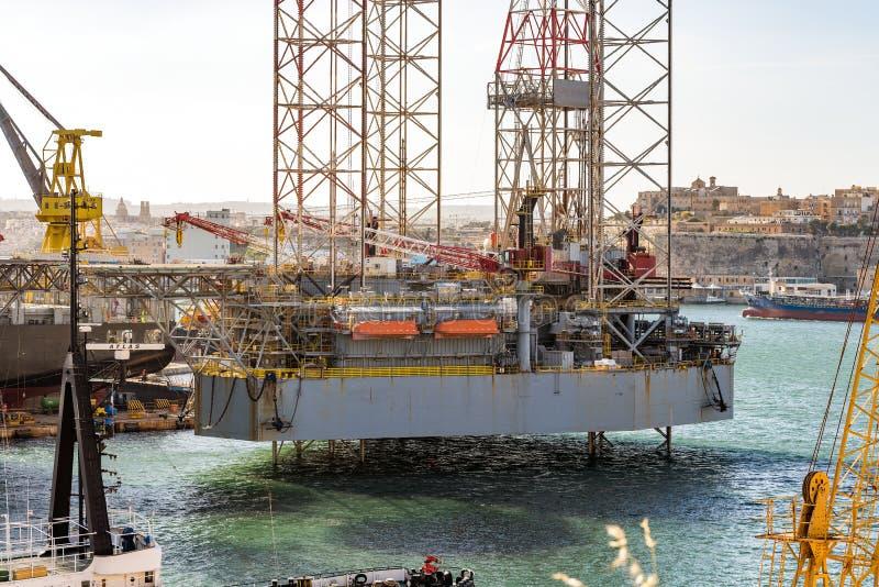 Ναυπηγείο Valleta στη Μάλτα στοκ εικόνες
