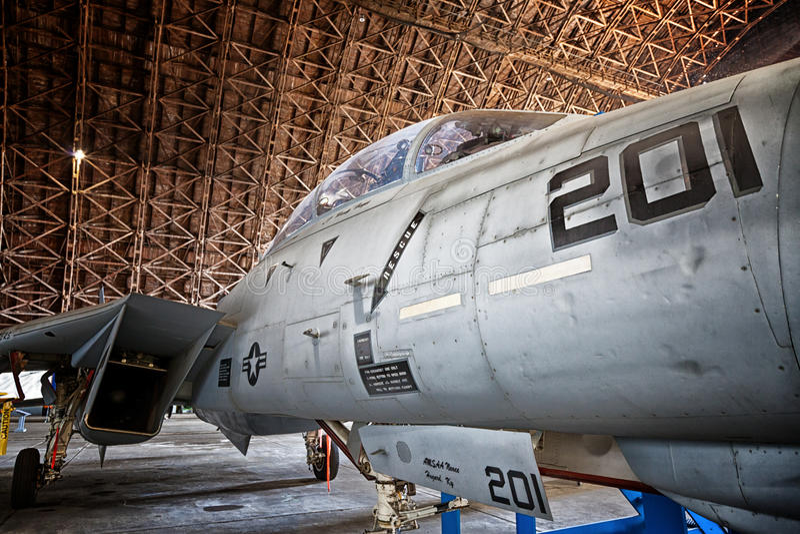 Ναυτικός αεροσταθμός Grumman φ-14A Tomcat Tillamook στοκ εικόνα