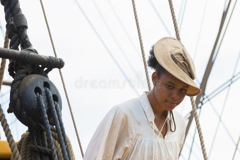 Ναυτικός για το ψηλό σκάφος κυρία Washington στοκ εικόνες