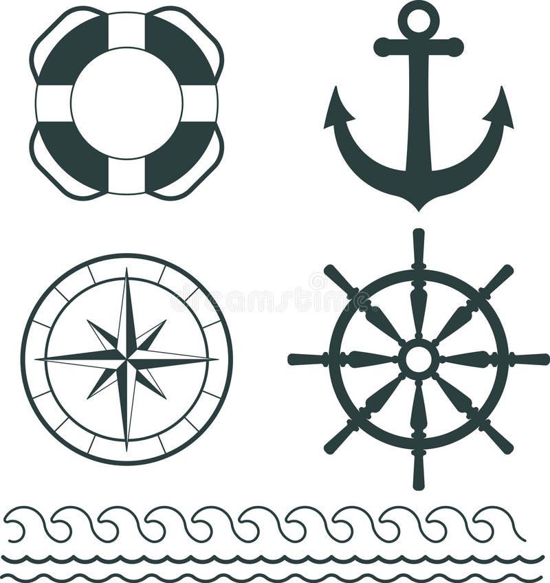 Ναυτικό διάνυσμα διακοσμήσεων απεικόνιση αποθεμάτων