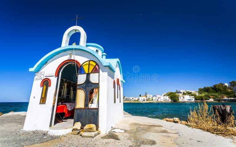 Ναυτικό κάτω από Galata, Κρήτη, ελληνικά νησιά, Ελλάδα, Ευρώπη στοκ φωτογραφία