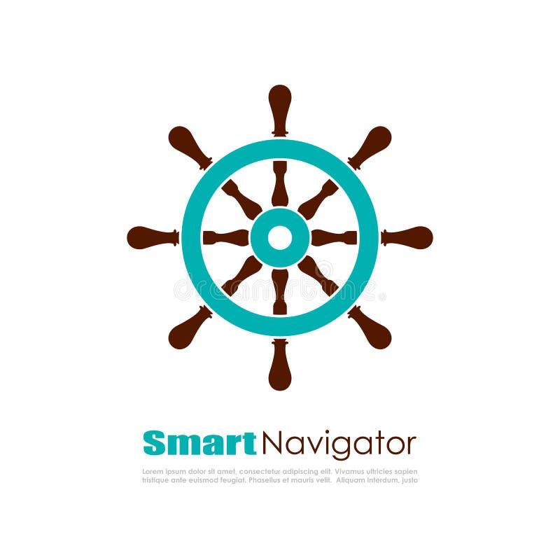 Ναυτικό λογότυπο πλοηγών διανυσματική απεικόνιση