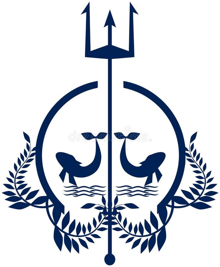 Ναυτικό λογότυπο στους μπλε τόνους ελεύθερη απεικόνιση δικαιώματος