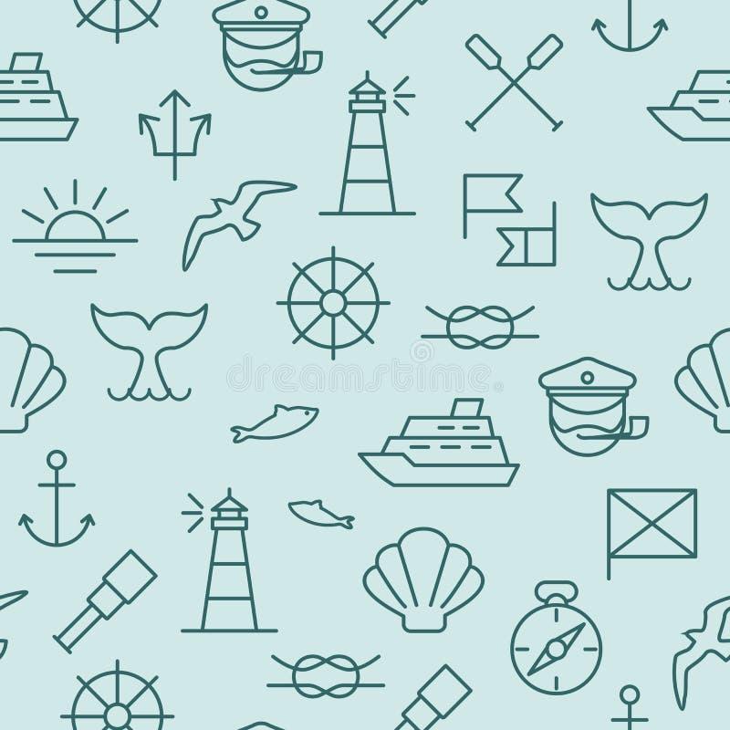 ναυτικό πρότυπο άνευ ραφής διανυσματική απεικόνιση