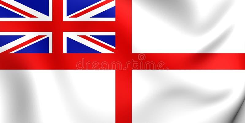 Ναυτικό Ensign του Ηνωμένου Βασιλείου απεικόνιση αποθεμάτων