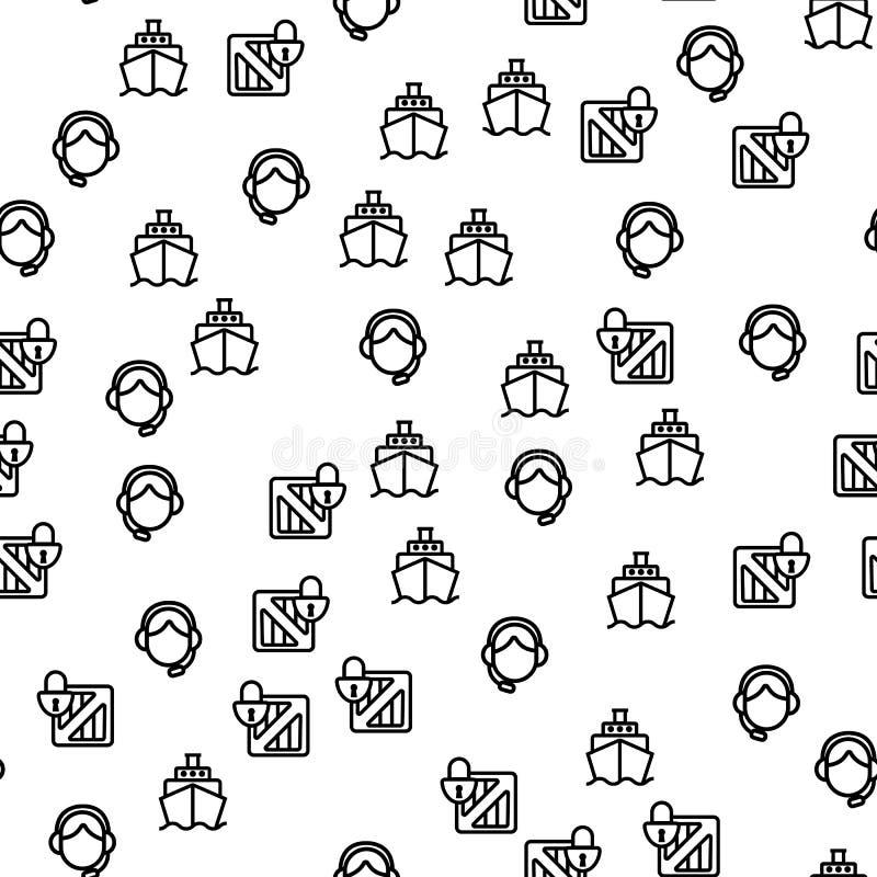 Ναυτιλίας ασφαλές διάνυσμα σχεδίων παράδοσης άνευ ραφής ελεύθερη απεικόνιση δικαιώματος