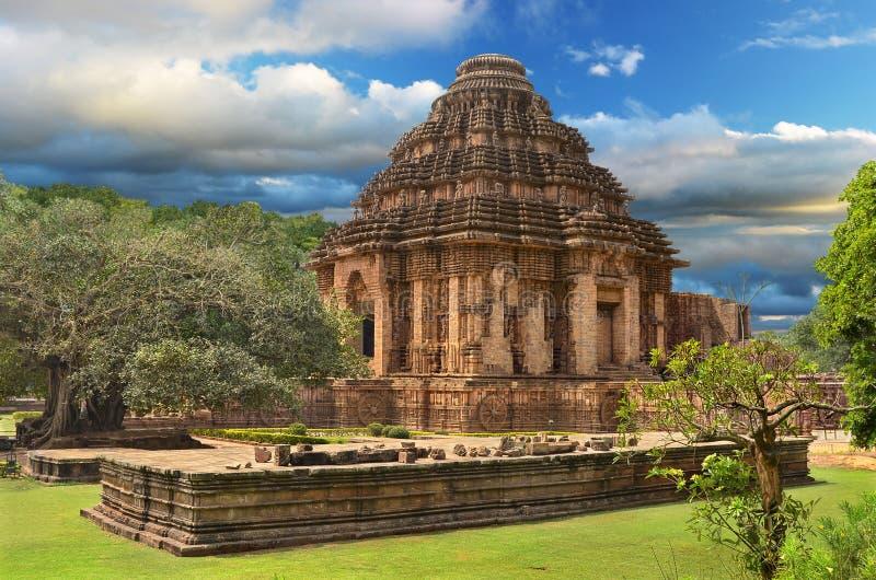 Ναός ήλιων σε Konark, Ινδία στοκ εικόνες με δικαίωμα ελεύθερης χρήσης