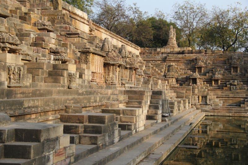 Ναός ήλιων Modhera σύνθετος στοκ εικόνα