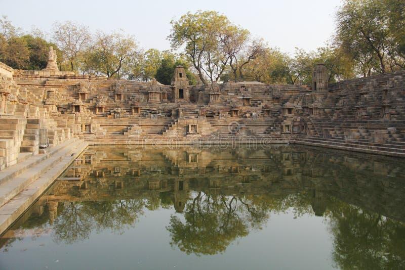Ναός ήλιων Modhera σύνθετος στοκ εικόνες