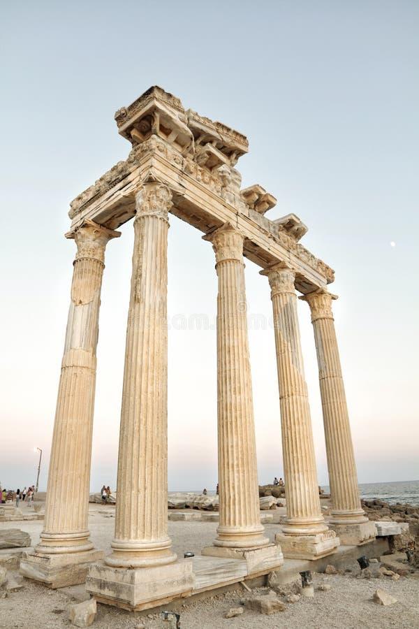 Ναός απόλλωνα, πλευρά, Τουρκία στοκ φωτογραφίες
