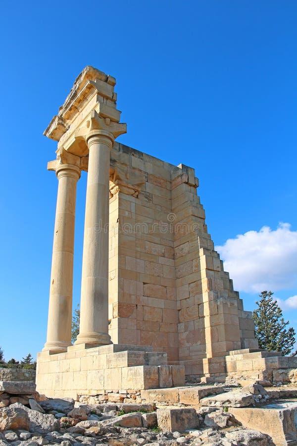 Ναός απόλλωνα Hylates στο Κούριο, Κύπρος στοκ εικόνες
