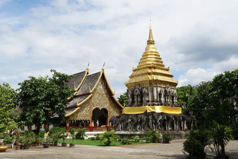 Ναός ατόμων Chiang Wat η παλαιά θέση ιστορίας mai Chiang, Ταϊλάνδη στοκ φωτογραφία