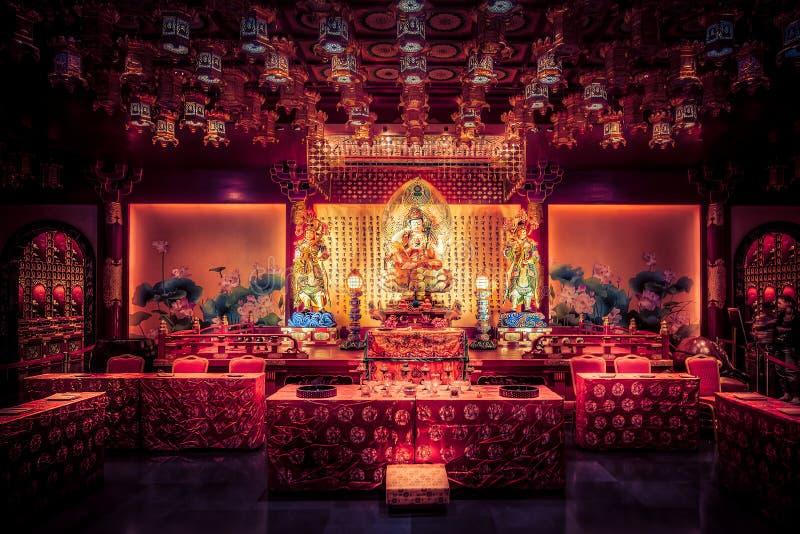 Ναός λειψάνων δοντιών του Βούδα και μουσείο, Σιγκαπούρη στοκ εικόνα